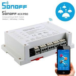 TÉLÉCOMMANDE DOMOTIQUE  Telecommande Domotique Sonoff 4CH Pro 4 canaux WiF