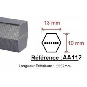 BROYEUR - ACCESSOIRE Courroie AA112 Qualité PRO
