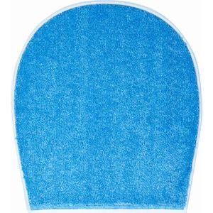 TAPIS DE BAIN  Tapis de salle de bain LUCA bleu housse pour abatt