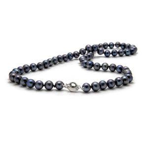 SAUTOIR ET COLLIER Collier Perles de culture Noires 91 cm  !
