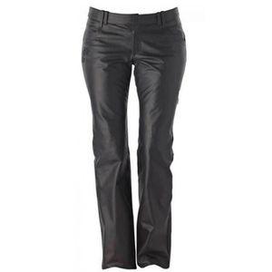 BOUCHON DE REMPLISSAGE Pantalon en cuire noir pour Femme Ixon Rubis Lady 20948dfcb36