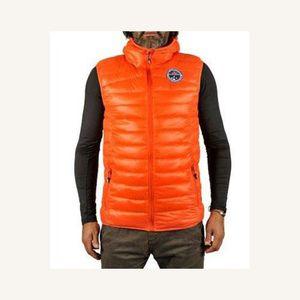 nouveau concept 57f78 af864 Doudoune homme sans manche orange
