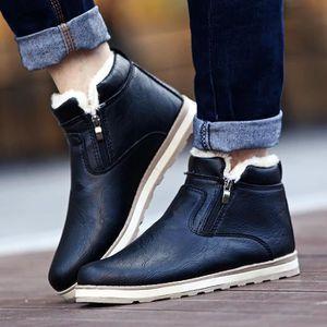 Sidneyki®Homme Hiver Chaud Bottes Chaussures Décontractées Bottes de neige en peluche Noir XKO840 DYLdmG