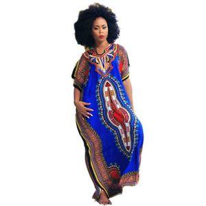 769a88a6f9c ROBE Robe Femme Africaine Imprimée Décontractée Imprimé