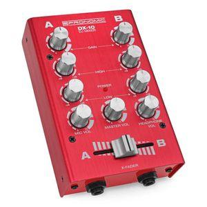 TABLE DE MIXAGE Pronomic DX-10R DJ module de mixage rouge