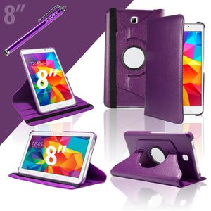 HOUSSE TABLETTE TACTILE FILM + STYLET +Etui 360° Samsung Galaxy Tab 4 8.0
