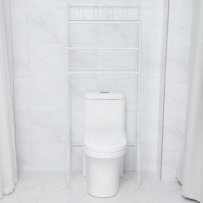 Support De Rangement Pour Toilettes Au Dessus étagères Toilette Organiseur Salle De Bains Gain De Place Blanc