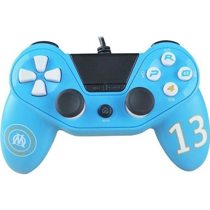 Manette filaire Pro4 Olympique De Marseille pour PS4, PS3 et PC