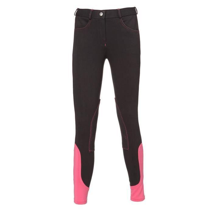 EQUI-THEME Pantalon d'équitation Pro Fun Line - gris / fuchsia - femme