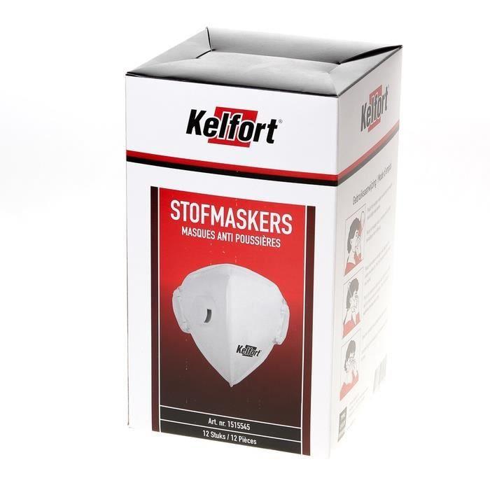 LUNETTE - VISIÈRE CHANTIER Kelfort 2332V Masque anti-poussière avec valve  FFP 755be5c1f48a