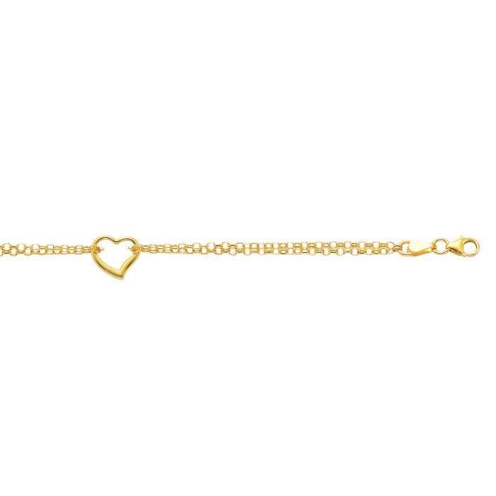 Jaune 14 carats et Chaine de Cheville Femme-Coeur - 10 -