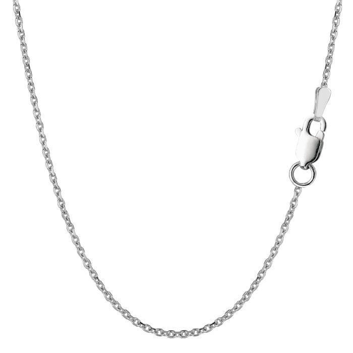 Chaîne- Argent sterling Rhodium plaqué, 1, 5mm, 16