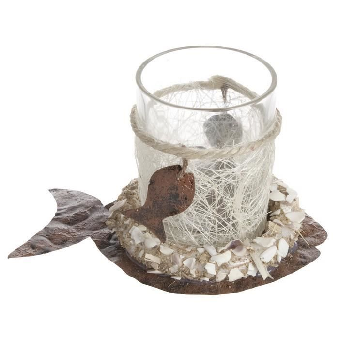 Verrine photophore sole th me mer d coration table mariage for Decoration maison theme mer