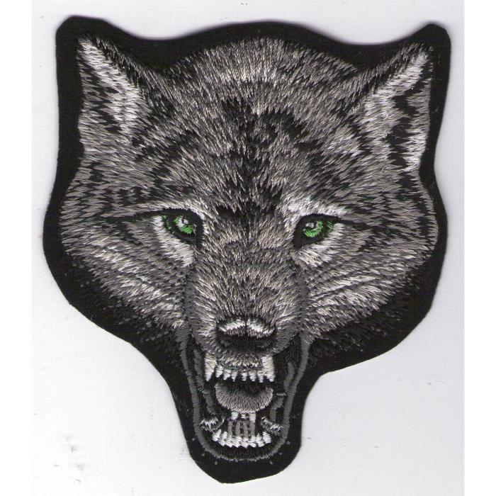 Patch écusson tête de loup wolf chien  Neuf