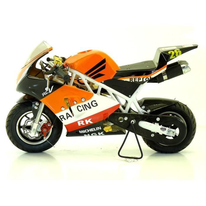 pocket bike piste 50cc mini moto enfant orange achat. Black Bedroom Furniture Sets. Home Design Ideas