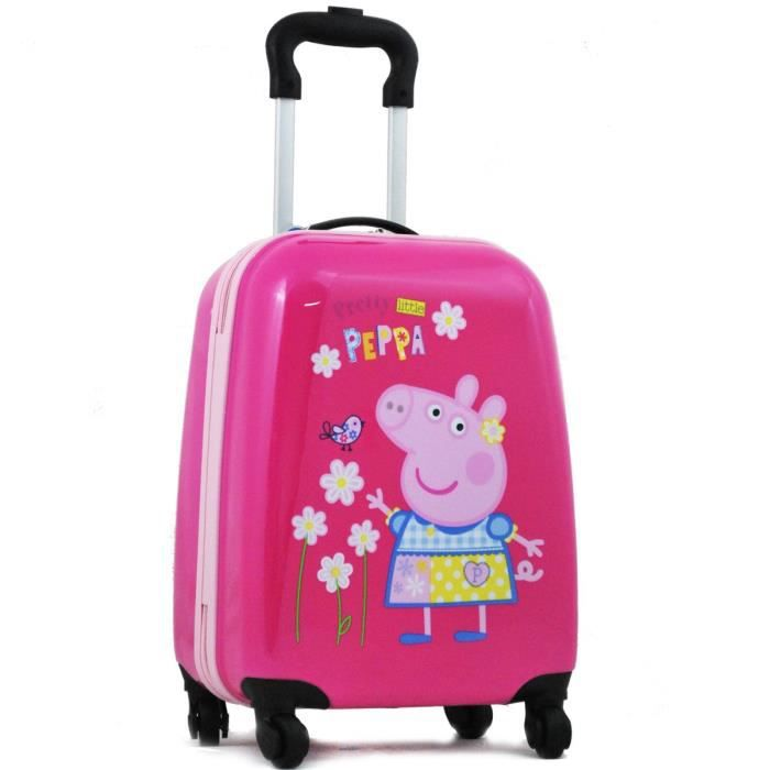 e15a6ae498 Valise cabine Fille 4 roues PEPPA PIG 46cm - Rose Rose - Achat ...