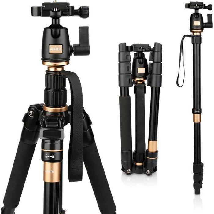 AFAITH Trépied Monopode caméra professionel compact pour Appareil photo  reflex numérique Canon Nikon Sony DSLR q-555 b73a0d174b51