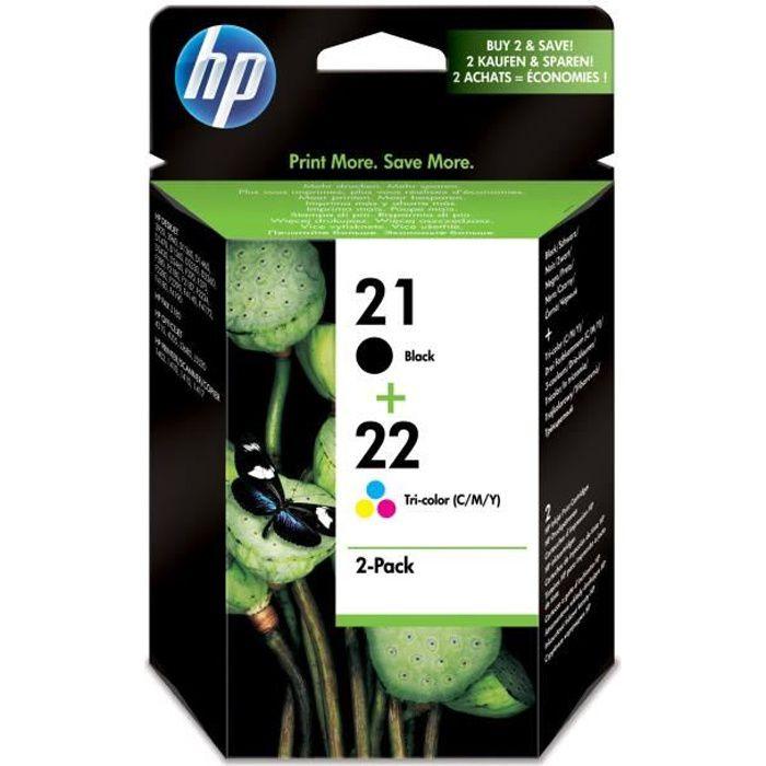 CARTOUCHE IMPRIMANTE HP Pack de 2 Cartouches d encre 21 22 Original - N 21a4f834903c