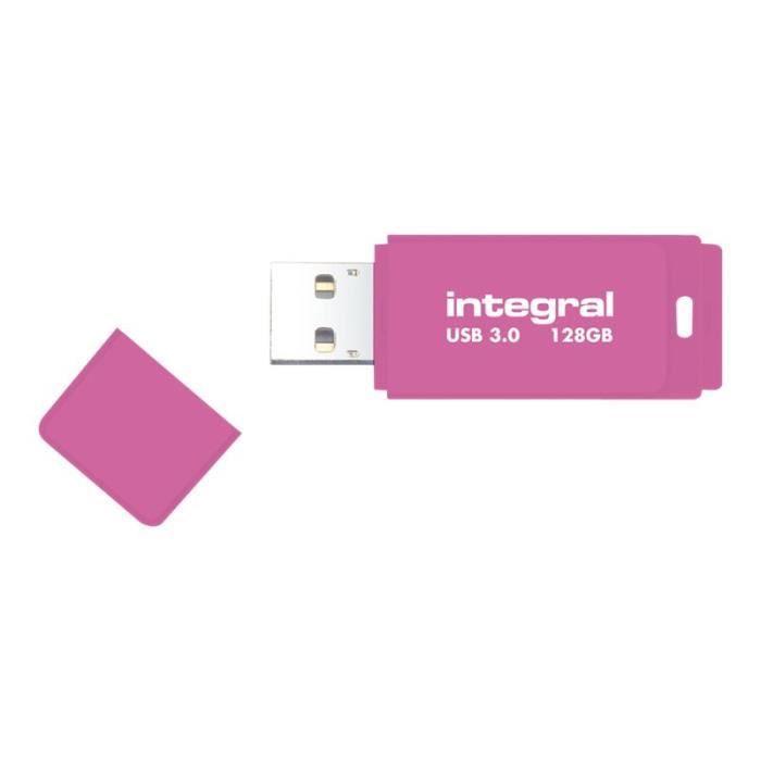 DISQUE DUR SSD Integral Neon Clé USB 64 Go USB 3.0 rose