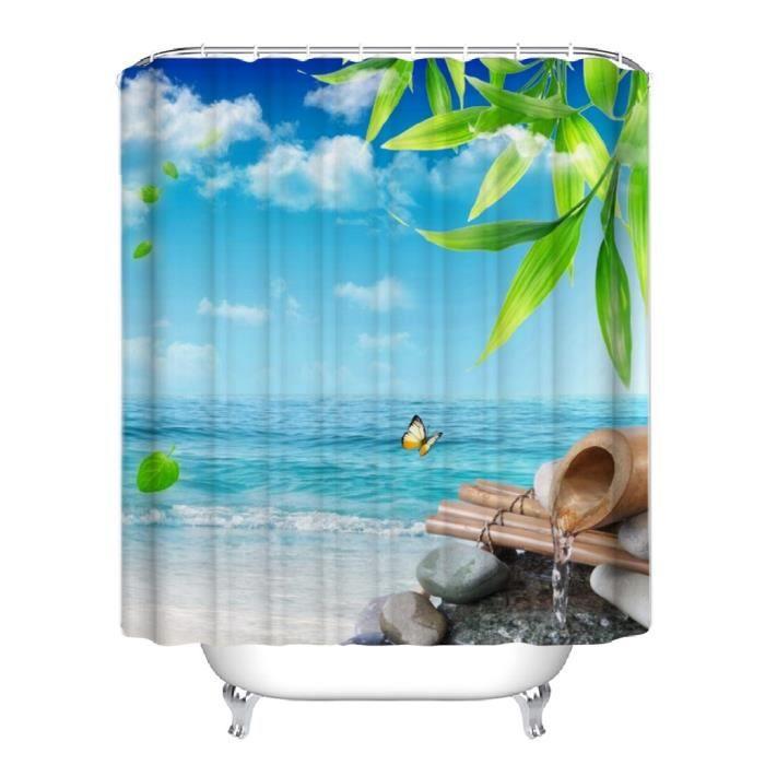 rideaux de douche bambou achat vente rideaux de douche bambou pas cher soldes d s le 10. Black Bedroom Furniture Sets. Home Design Ideas