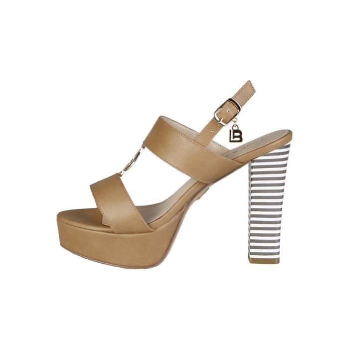 Cyllene Fantaisie - Sandales pour femme (414_CALF_SAND) - Brun