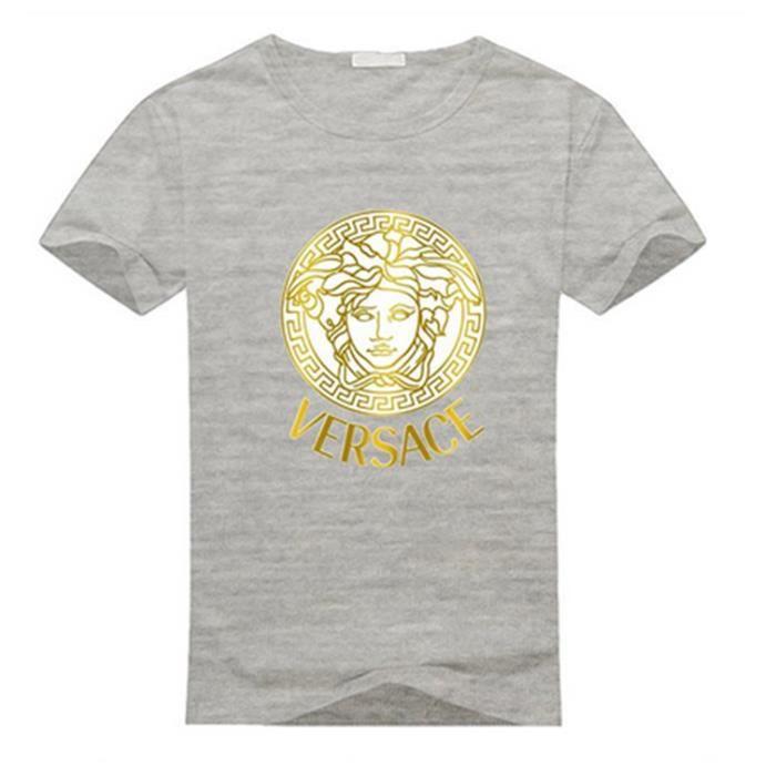 11cf97c06b8e TSHIRT - POLO Versace LogoT-shirt en coton à manches courtes pou