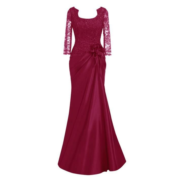 Robe mere mariee rouge
