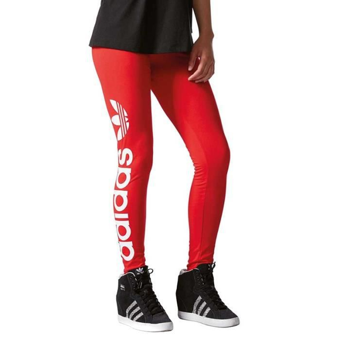 Legging Linear Rouge Femme Adidas Rouge Rouge - Achat   Vente ... 9c61a52ee76