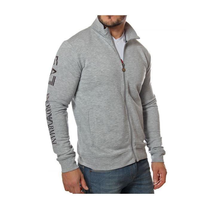 897f7c133c EMPORIO ARMANI - EA7 - Sweat Zippé pour Homme 274417 6P280 (gris ...