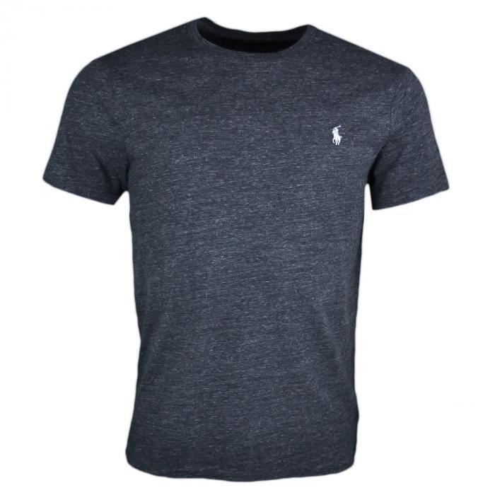 T-shirt col rond Ralph Lauren noir irisé logo gris pour homme - Taille  S -  Couleur  Noir 0c3858fb4659