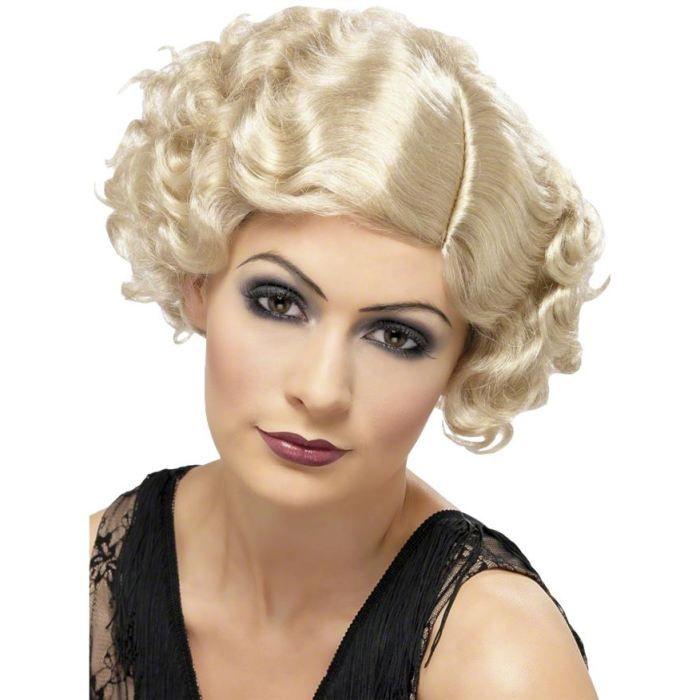 Perruque charleston femme blond - Achat /