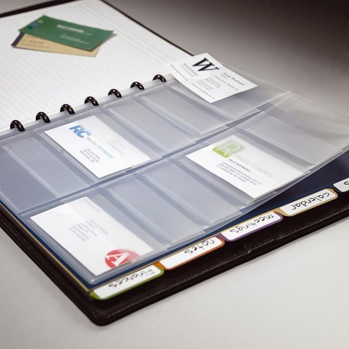 Porte Cartes De Visite ARC A5 En Polypropylene Pour 80 Transparent Lot 5