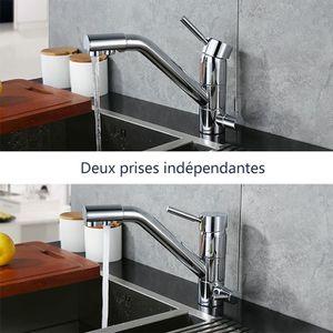 robinet double sortie achat vente robinet double sortie pas cher cdiscount. Black Bedroom Furniture Sets. Home Design Ideas