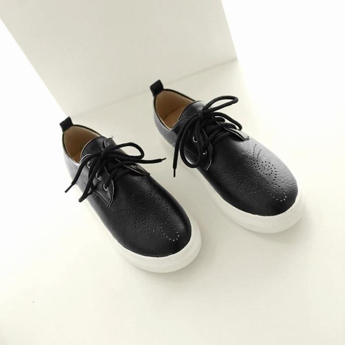 Chaussures Femme Plateforme Lacets En PU Cuir Toutes les pointures de la 35 à la 43