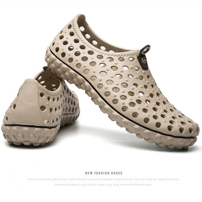 XZ260Beige40 doux Été Chaussures Respirant Sandales Maille Homme Super Super LKG Léger qvWwa1