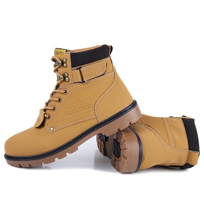 Botte Homme Martin Meilleure Qualité Mode En Cuir Populaire High Top Chaussures Désert Bottes Confortable Durable Martin Boots e8ukWcZ