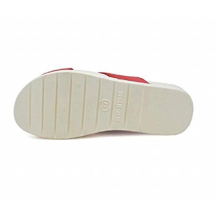 Salle de bains chaussons sandales de plage flip flops d'intérieur plat Anti Skid Chaussons Thongs TVS6U Taille-39
