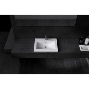 Lavabo Vasque Evier A Encastrer Fonte Colossum01 600 60 X 48 X 13cm