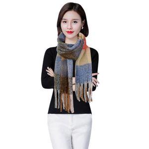 ECHARPE - FOULARD foulard écharpe à carreaux tricotage rouge cachemi 86ec2c76b09