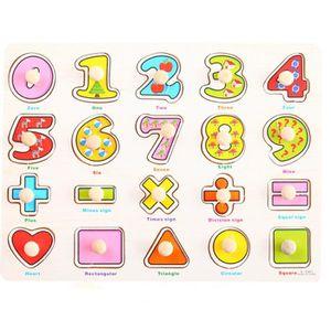 PUZZLE Puzzle en bois enfants Playschool jouet éducatif P