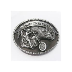 CEINTURE ET BOUCLE boucle de ceinture born to be free alu homme biker 2c720f0ae25