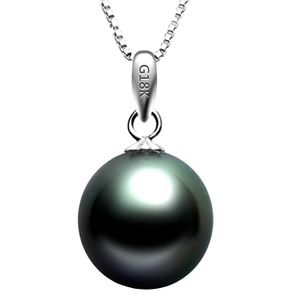 PENDENTIF VENDU SEUL Tikiville 18K Or Blanc Noir perle de culture de T