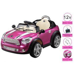 voiture electrique pour enfant 12 volts t l comm achat vente voiture enfant cdiscount. Black Bedroom Furniture Sets. Home Design Ideas