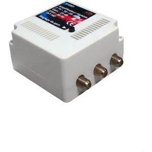 REPETEUR DE SIGNAL Amplificateur int. 2 TV TNT UHF 25 dB réglable