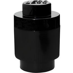 BOITE DE RANGEMENT Boîte lego ronde géante de rangement noir ()