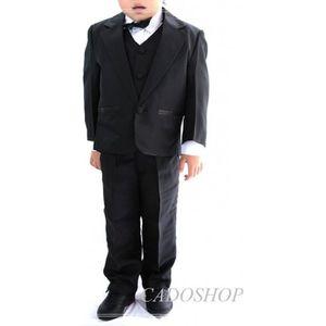 COSTUME - TAILLEUR Costume gilet enfant garçon mariage VCS47 noir