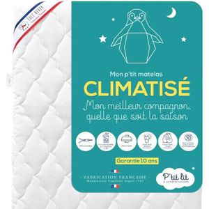 MATELAS BÉBÉ P'tit Lit -  Matelas Bébé Climatisé  - 60x120  cm