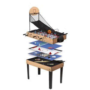 TABLE MULTI-JEUX RENE PIERRE Table de Jeux Basket 9 en 1