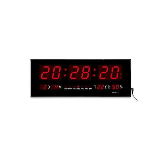 Mega-Deal Horloge Murale LED Numérique Digitale Bouton en ...