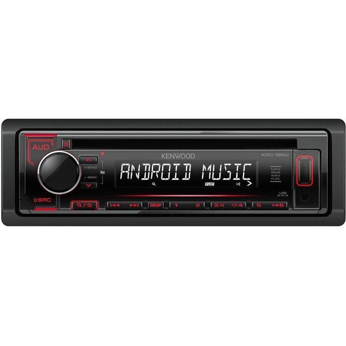 KENWOOD Autoradio KDC-120UR - CD - USB - AUX - Illumination rouge